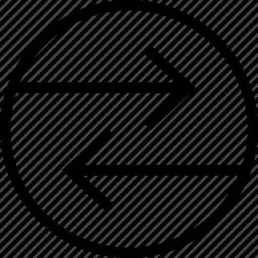 Arrow Circle Combine Directions Fuse Mix Round Icon