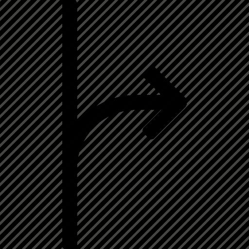 alternate, diverge, division, motion, process, route icon