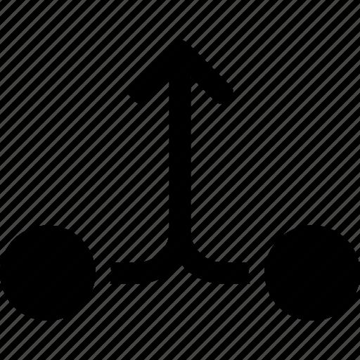 activity, arrows, circle, merger, motion, process, routes icon