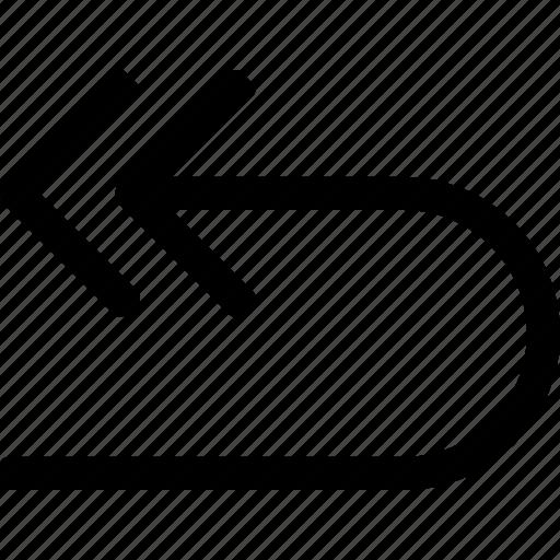 activity, arrow, back, motion, repeat, return icon