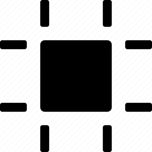 active, boundaries, edges, frame, selected, square icon