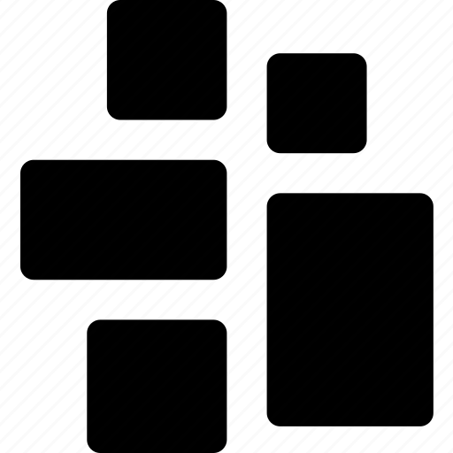 architecture, elements, grid, irregular, layout, stack, system icon