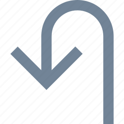 arrows, line, return, traffic, turn icon