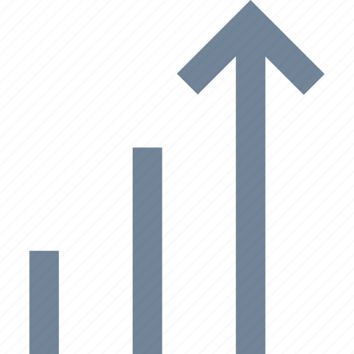 arrow, chart, grow, line icon