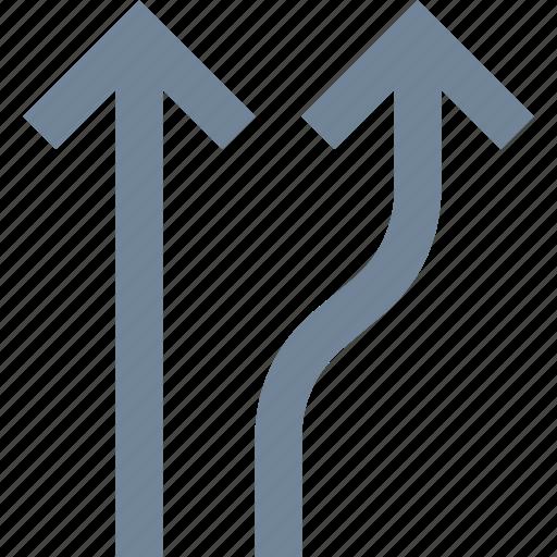 arrows, line, traffic icon