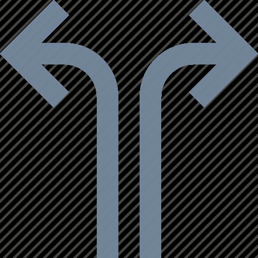 arrows, line icon