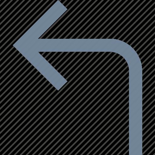 arrows, left, line, traffic icon