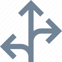 arrow, direction, line, trafic icon