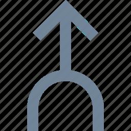 arrow, direction, line, traffic icon