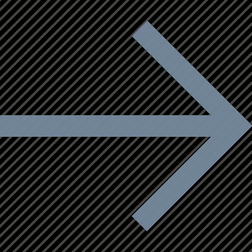 arrows, line, right icon