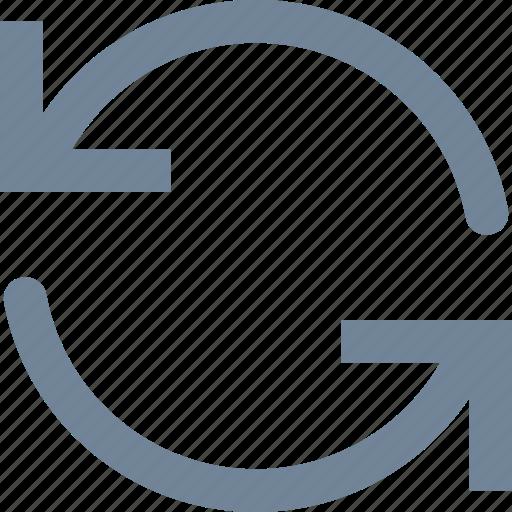 arrows, cicle, line, refresh icon