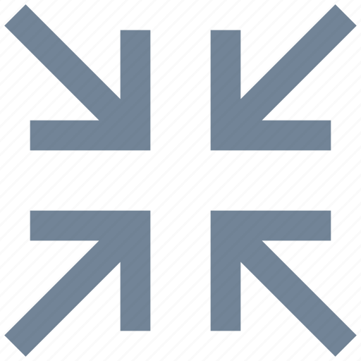 arrows, exit, full screen, line, signs icon