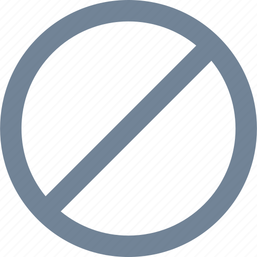 circle, denied, line, prohibited icon