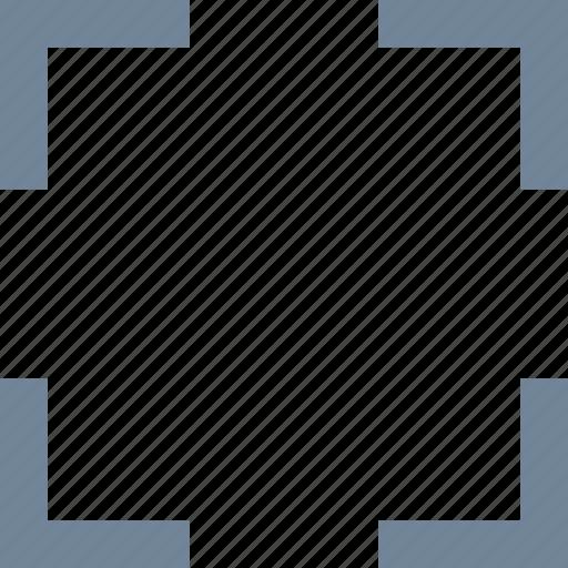 expand, fullscreen, line, square icon