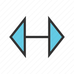 arrow, arrows, direction, double, left, right icon