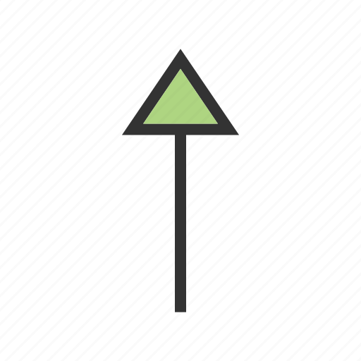 arrow, direction, pointer, round, sign, up icon
