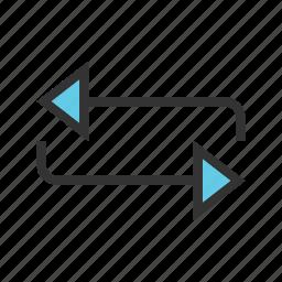 arrow, circle, circular, refresh, repeat, rotate, rotation icon