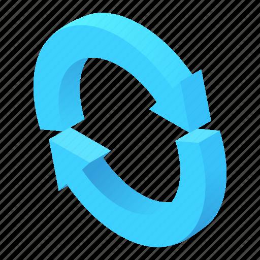 Arrows, cartoon, circular, direction, information, two, way icon - Download on Iconfinder