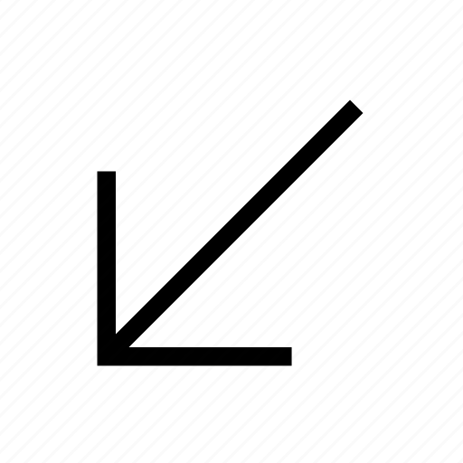 Arrow, diagonal, direction, down, left, move icon - Download on Iconfinder