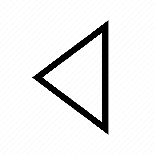 Arrow, direction, left, move, previous, traingle icon - Download on Iconfinder