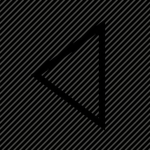 arrow, direction, left, move, previous, traingle icon