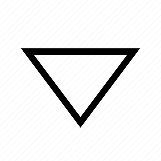 arrow, bottom, direction, down, move, triangle icon