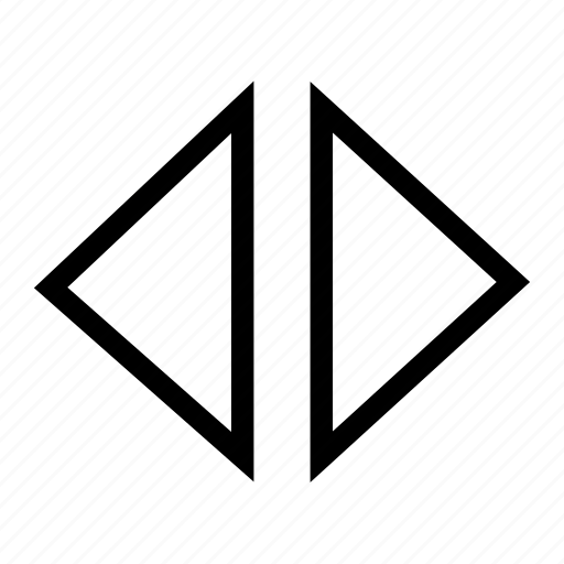direction, horizontal, left, move, right, triangle icon