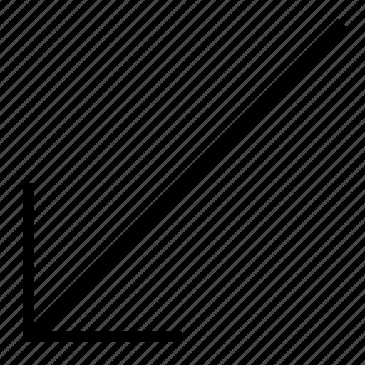 arrow, arrows, diagonal, direction, left, lower, right icon