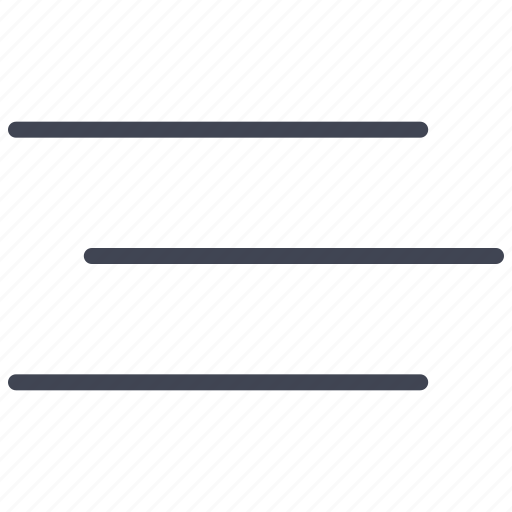 aligment, align, alignment, format, paragraph, text icon