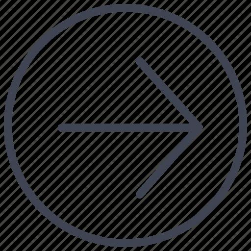 arrow, arrows, direction, right, round icon