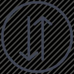 arrow, arrows, direction, navigation, sorting icon