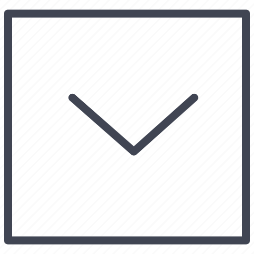 arrow, direction, down, pointer, square icon