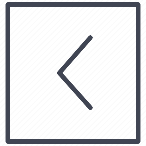 arrow, direction, left, pointer, square icon