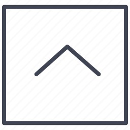 arrow, direction, pointer, square, up icon