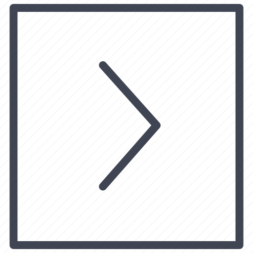 arrow, direction, pointer, right, square icon