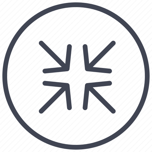 arrow, arrows, circle, out, round, zoom icon
