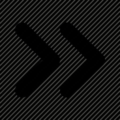 arrow, double, right, tiny icon
