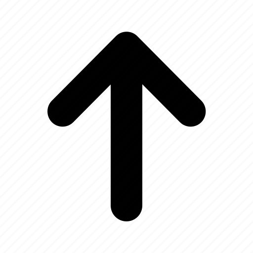 arrow, tiny, top icon