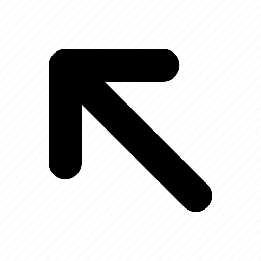 arrow, left, tiny, top icon