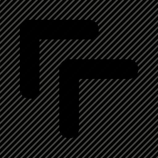 arrow, double, left, tiny, top icon