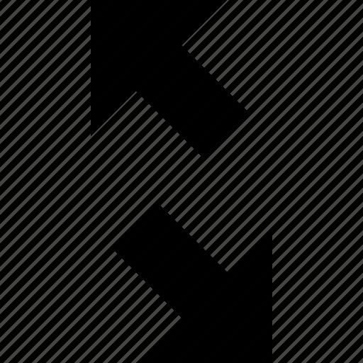 arrows, diagonal, expand, tiny icon