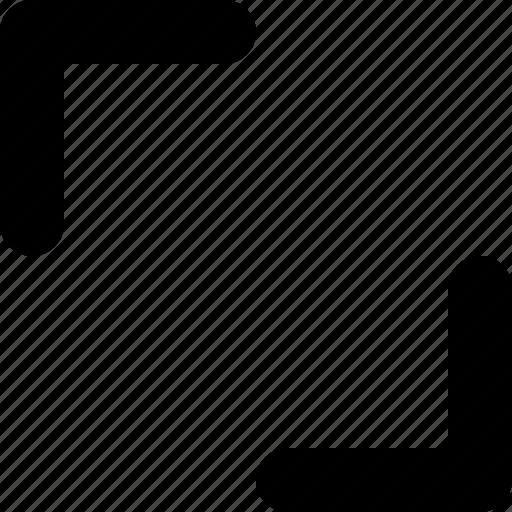 arrows, diagonal, expand, out, tiny icon