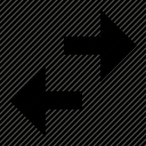 arrows, horisontal, tiny icon