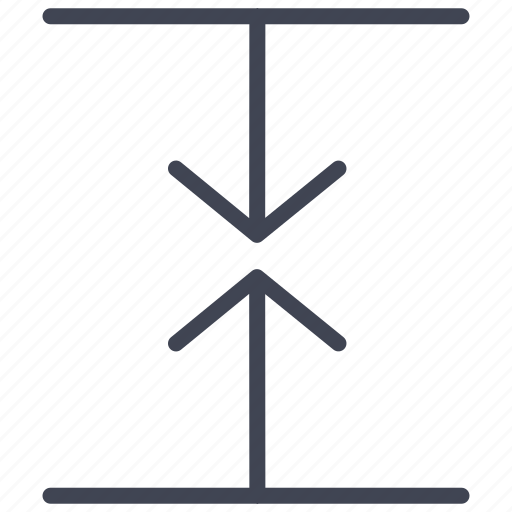 arrow, arrows, direction, down, lines, meeting, up icon