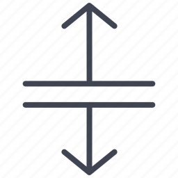 arrow, arrows, direction, down, lines, seperating, up icon