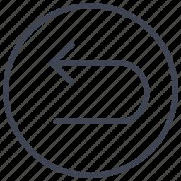 arrow, arrows, direction, left, turn, u icon