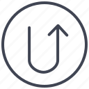 arrow, arrows, direction, turn, u, up icon