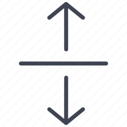 arrow, arrows, direction, down, line, seperating, up icon