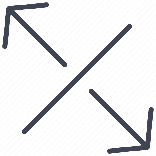 arrows, down, left, line, right, seperating, up icon