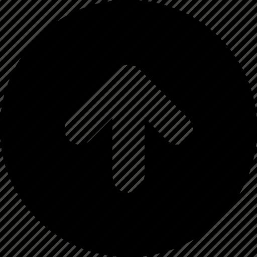 arrow, circle, top icon